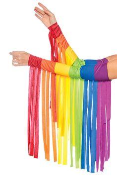 Leg Avenue Women's Fashion Costume Festival Pride Rainbow Fringe Arm Warmer, Multi, O/S Best Halloween Costumes & Dresses USA Festival Costumes, Festival Outfits, Festival Fashion, Festival Clothing, Diy Costumes, Costumes For Women, Dance Costumes, Halloween Costumes, Pride Outfit
