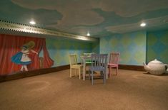 Alice in Wonderland Playroom Idea