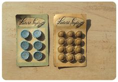 Vintage glass buttons!  wow!