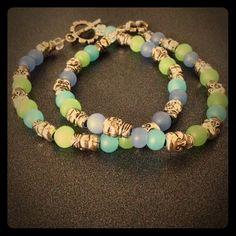 "Spotted while shopping on Poshmark: ""Aqua skulls""! #poshmark #fashion #shopping #style #The mermaids trove #Jewelry"