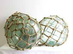 vintage glass float from China. salvaged from the Yangtze river. gorgeous light blue colour. now available at Coastal Vintage