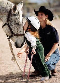 Love <3-There is something about a therapy horse!