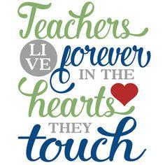 Silhouette Design Store: teachers live forever