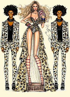 fashion figures of bey and les twins. beautiful