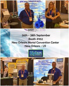 Happy to be here! Meet us @weftec : 26-28 Sept Booth #1152 - New Orleans. Don't miss the largest annual water quality exhibition in the world and our #xylan #coatings #weftec16