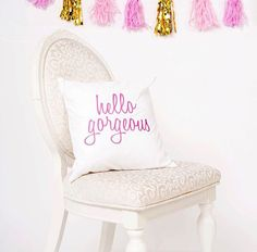 Decorate your room or dorm room with cute pillows like this one! Click through to see more options.
