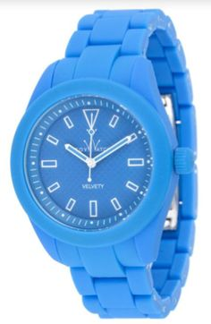 Toy Watch  Women's Velvety Watch in Light Blue & White