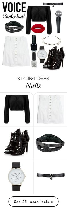 """""""VOICE contestants🎙🎤🖥"""" by francescabadolato on Polyvore featuring Fallon, Frye, Madewell, Lime Crime, OPI, Lipsy, ALDO, thevoice and YahooView"""