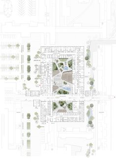 Gallery of C. Møller Wins Vendsyssel Hospital Competition - 11 Image 11 of 22 from gallery of C. Architecture Concept Diagram, Architecture Presentation Board, Architecture Drawings, Architecture Plan, Architecture Visualization, Hospital Architecture, Healthcare Architecture, Healthcare Design, Hospital Floor Plan