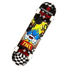 Punisher Skateboards TNT Complete Skateboard - Black/Yellow (31