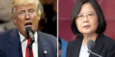 """Top News: """"TAIWAN POLITICS: Trump Call With Taiwan's President Tsai Ing-wen Backfires As China Lodges Protest"""" - http://politicoscope.com/wp-content/uploads/2016/12/Donald-Trump-and-Tsai-Ing-wen-USA-Taiwan-Politics-News-Now.jpg - The 10-minute telephone call with Taiwan's leadership was the first by a U.S. president-elect or president since President Jimmy Carter switched diplomatic recognition from Taiwan to China in 1979.  on Politics: World Political News Articles, Politic"""