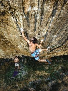 """This looks very much like """"First Round First Minute"""" one of the hardest rock climbs in the world!!"""