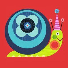 Ellen Giggenbach, love her work! Snail Art, Doodles, Arte Popular, Happy Art, Happy Animals, Cute Illustration, Nursery Art, Rock Art, Paper Cutting