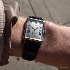 A curated selection of fine vintage timepieces, serviced and available for overnight delivery. Black Rectangle, Watch Companies, Watches For Men, Men's Watches, Watch Case, Square Watch, Vintage Watches, Roman Numerals, Mens Fashion