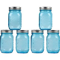 DIY Party Supplies - Paper Source- Blue Mason Jars