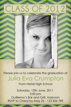 homemade graduation invitation ideas   Custom Photo graduation open house invtiations