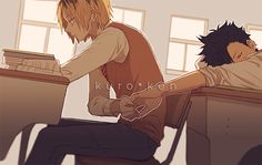 Kuroo and Kenma - Haikyuu!! | I don't think I ship it but they are sooo cute *3*