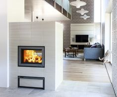 Tulikivi Nammi fireplace, open on two sides