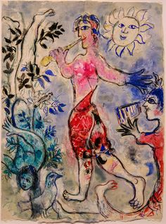 Marc Chagall, Variation on the Theme of The Magic Flute, Marc Chagall, Time Painting, Oil Painting Abstract, Watercolor Artists, Painting Lessons, Painting Art, Watercolor Painting, Pablo Picasso, Chagall Paintings