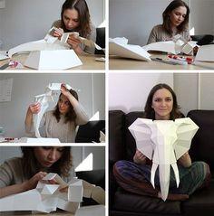 Трофейные головы животных из бумаги для украшения интерьера. Автор: Наталья Бублик.... фото #5