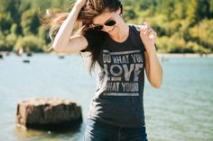 """Ugmonk » """"Do What You Love"""" in heather black.  $26.00"""