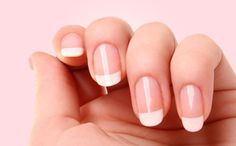 a classic French manicure always on! if only I was high maintenance.....