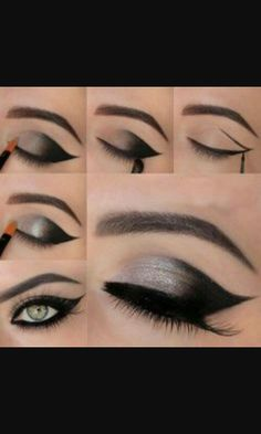 Instructions on how to do the perfect smokey eye.
