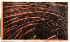 "takahikohayashi:  A piece of print ""2014-The Nest of Winds-6"" copperplate print (etching) with chine collé 19.5x32cm林孝彦 HAYASHI Takahiko"