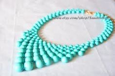 turquoise bead necklace - Google Search