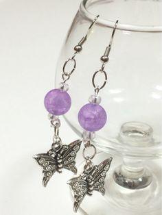 Butterfly dangle earrings by OnTheWireByMaryJane on Etsy, $15.00