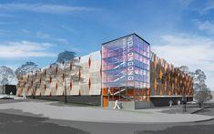 Commercial Parking Building, Parking Lot, Curve Building, Car Parks, Project Management, Oc, Garage, Fair Grounds, Sands