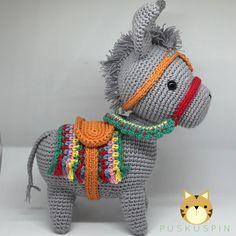 Amigurumi Crochet Donkey Free Pattern - Amigurumi Free Patterns and Amigurumi Tutorials Amigurumi Tutorial, Amigurumi Patterns, Amigurumi Doll, Crochet Patterns, Crochet Dragon Pattern, Crochet Horse, Free Crochet, Crochet Baby, Baby Knitting