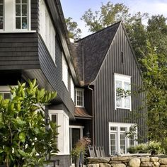 Traditional Home Exterior Painting among Shingle also Wall Siding Finished in Black to Match with White