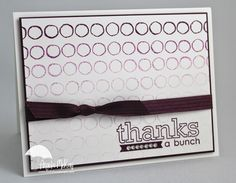 Angela's fun ombre card: Occasions 4 You and Draw the Line.