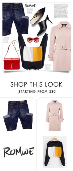 """""""Untitled #1856"""" by kriz-nambikatt ❤ liked on Polyvore featuring Philipp Plein, Topshop and Yves Saint Laurent"""