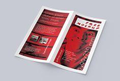 Bi-fold DL Leaflet Mockup with customizable background