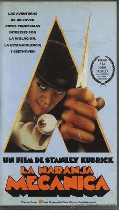 PELÍCULA VÍDEO VHS LA NARANJA MECÁNICA, STANLEY KUBRICK (CINE CIENCIA FICCION)
