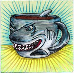 I drew you a great white shark mug of coffee by bortwein75, via Flickr