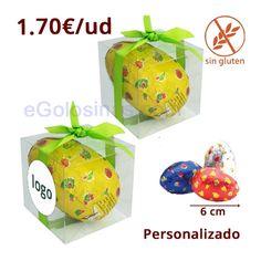 Juego de 4 color rojo y dorado huevos de cristal de Navidad 7 cm