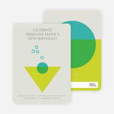 Cosmo Party Invitations from Paper Culture