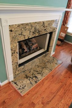Granite fireplace surround and hearth | Fireplaces | Pinterest ...