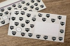 Envelop 'Uilen', DIN Lang  Design: Minipunkt