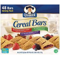 Quaker fruit cereal bars