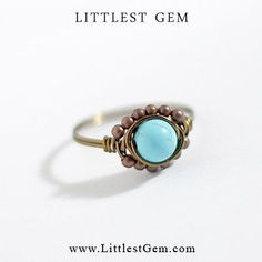 Boho Turquoise Ring unique rings wire wrapped by littlestgem clothes clothing girl girls women lady outfit accessories jewelry fashion bling gold clear crystal bling ring hipster ring boho ring indie ring hipster jewelry jewellery modern jewelry minimalist wedding prom party club #womensfashionhipsterboho