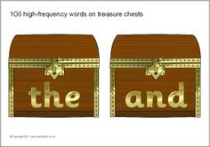 100 high-frequency words on treasure chests (SB6013) - SparkleBox
