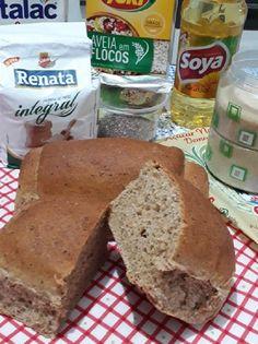 Receita de Pão Integral Macio - Receita Toda Hora Banana Bread, Desserts, Food, Fitness, Homemade French Bread, Pumpkin Loaf, Diets, Meals, Tailgate Desserts
