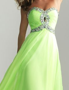 NEW cheap prom dresses, long prom dress, formal evening dress, strapless prom dress, light green dress Free shipping