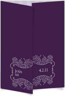 Gate-fold Wedding Invitations - Lovely Lavender #purple #wedding #ideas