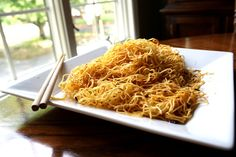 Pan fried noodles.