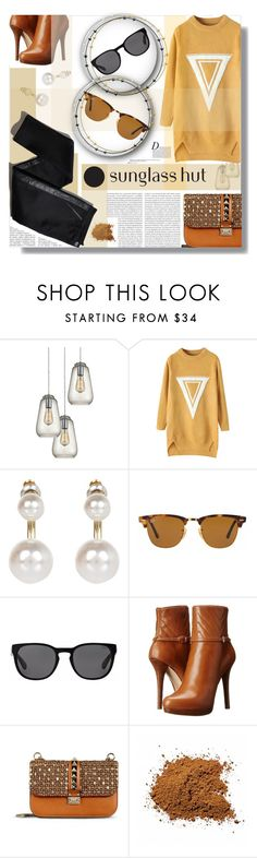 """""""Celebrate in Every Shade with Sunglass Hut: Contest Entry"""" by prigaut ❤ liked on Polyvore featuring Anja, Dot & Bo, Chicnova Fashion, River Island, Ray-Ban, Polo Ralph Lauren, MICHAEL Michael Kors, Valentino, Oris and TROA"""